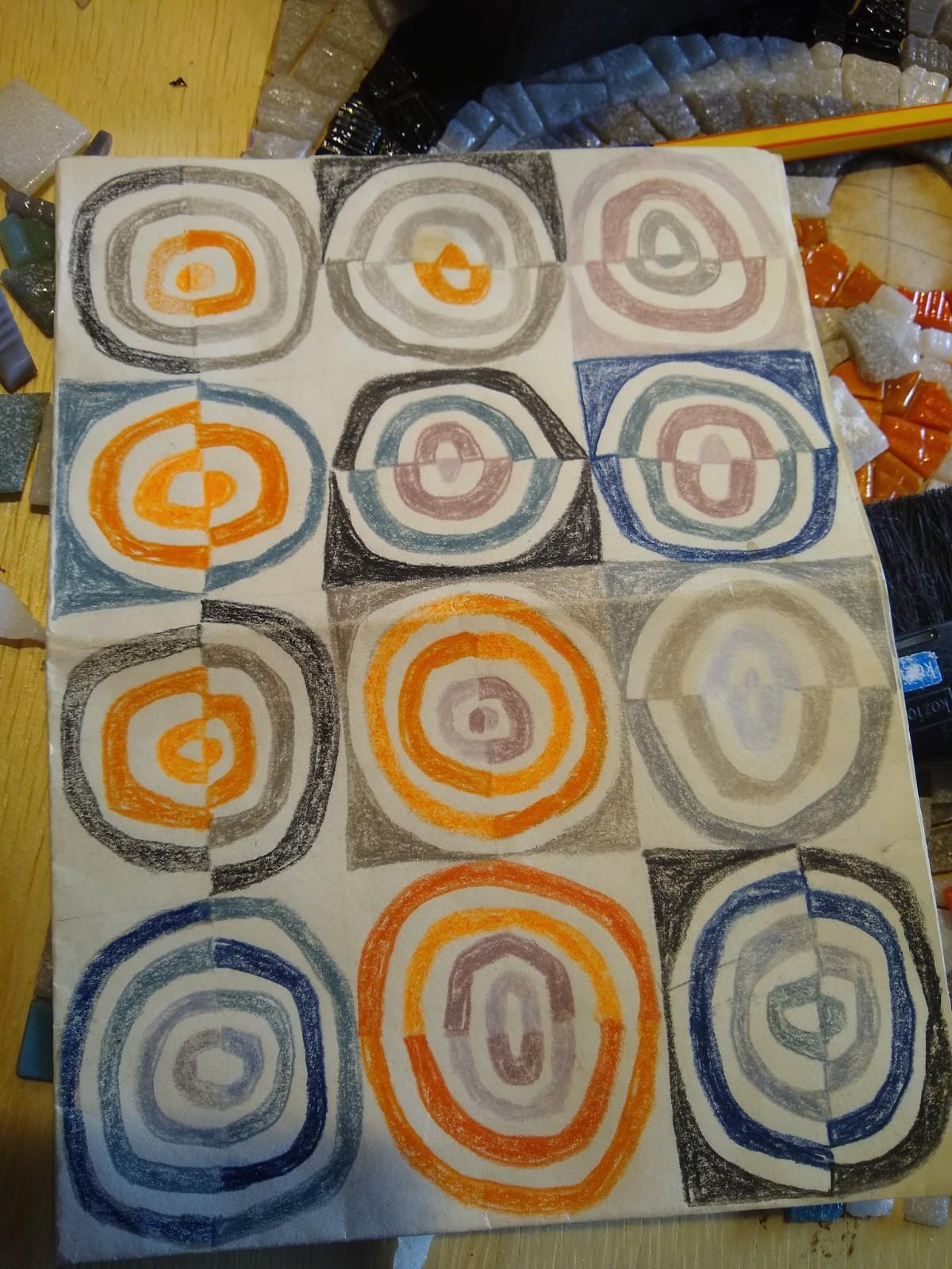 Desenho para painel de mosaico