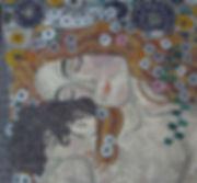 Mosaico Klimt Mulher e criança
