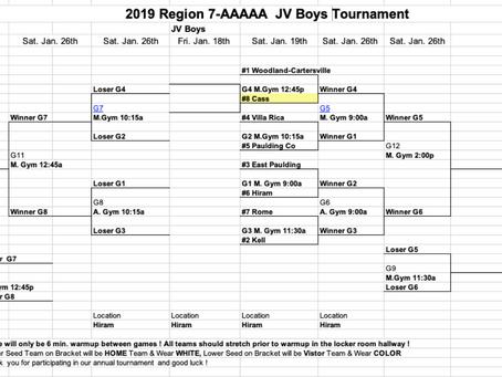 JV Boys Tournament Brackets