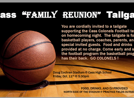 Cass FAMILY Tailgate Oct 11!