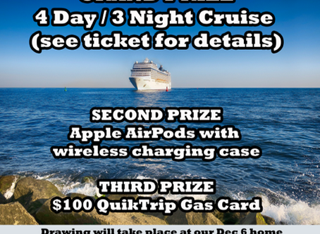 Win a $1,000 Cruise Vacation!!