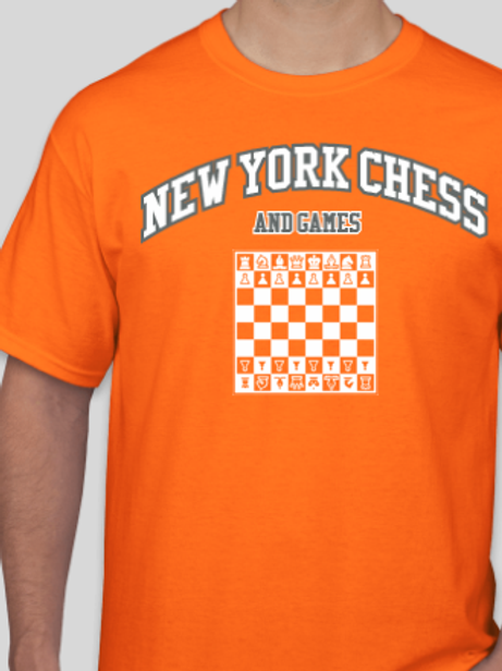 Classic New York Chess And Games T - Orange