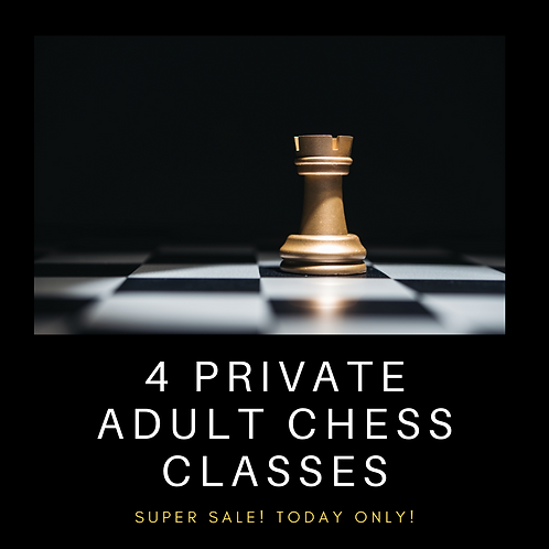 4 Private Adult Chess Classes