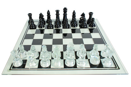 Clear Glass Chess Set