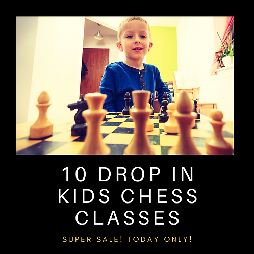 10 Anytime Drop-In Kids Chess Classes