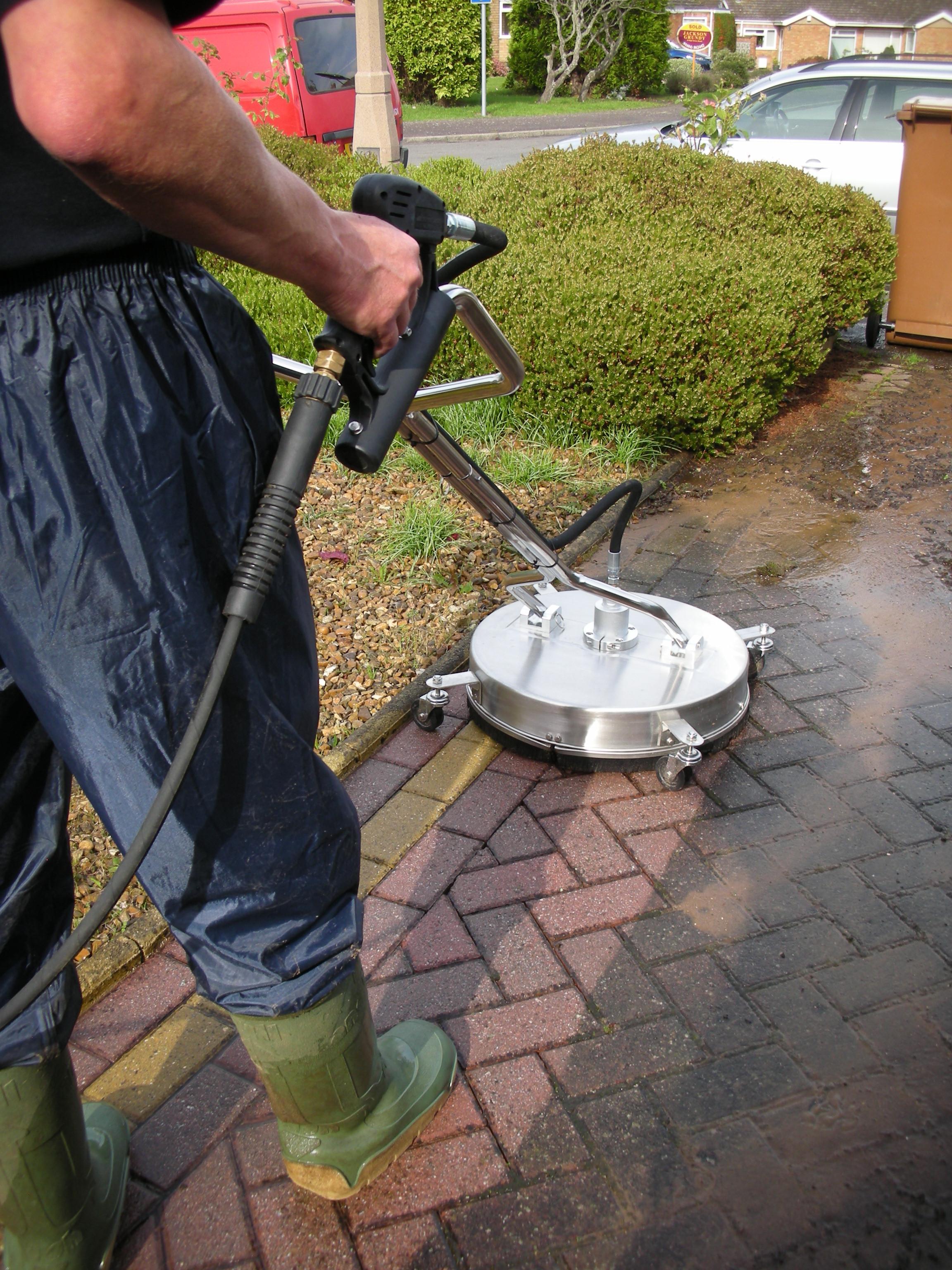 High powered pressure washing