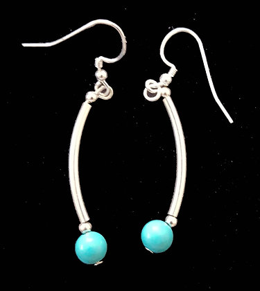 Turquoise dancing earrings