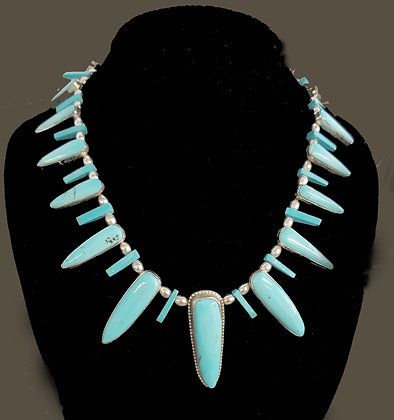 Natural Sleeping beauty turquoise necklace