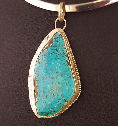 #8 turquoise pendant