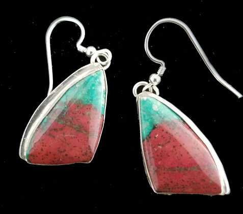 Sonoran Sunset Chrysocolla earrings