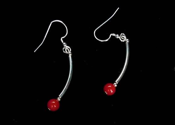 Dancing coral earrings