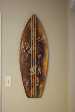 Walnut Surf Board