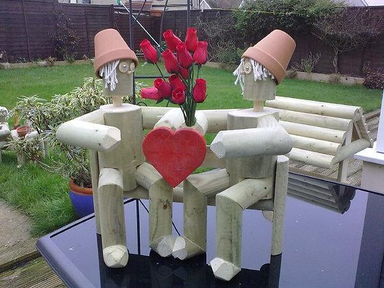 Valentines lovers logmen