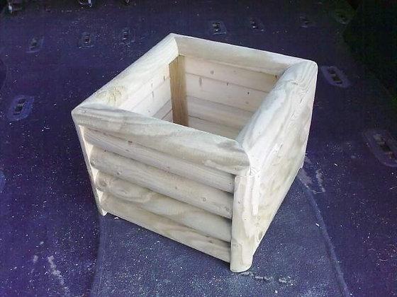 12x12 log planter