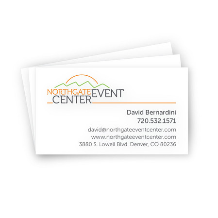 Northgate Event Center business cards