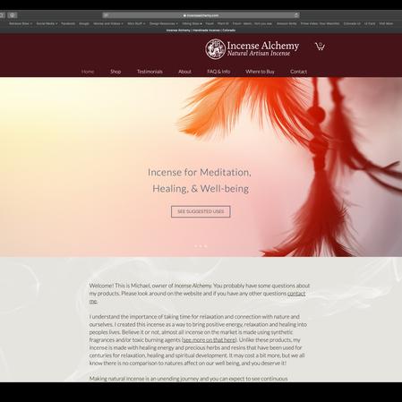Incense Alchemy website