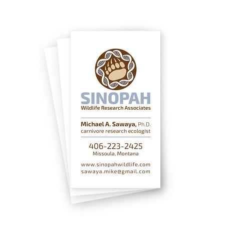 Sinopah business card layout