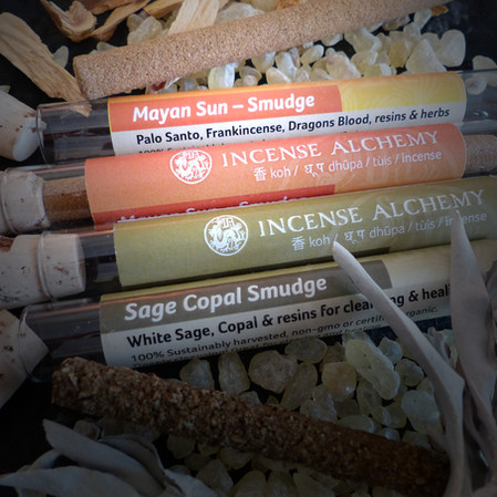 Retail packaging for Incense Alchemy