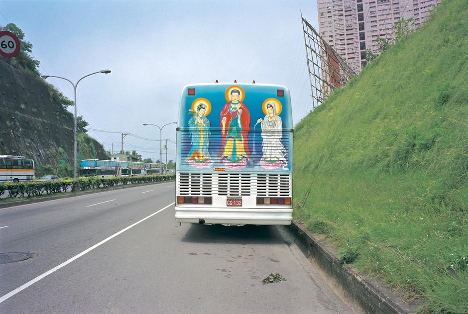 """45_<真假之間>宗教系列之6  台北縣.汐止,1999。  20""""×24"""""""
