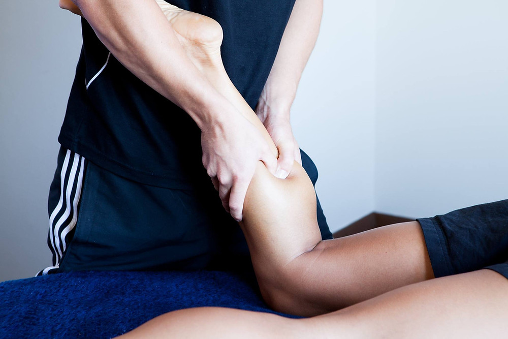 Treating a trigger point in the calf