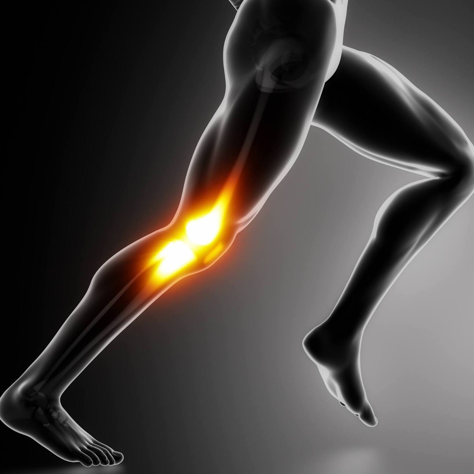 Sports injury and joint pain.