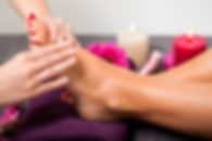 Relaxing and therapeutic foot massage and reflexology treatment.
