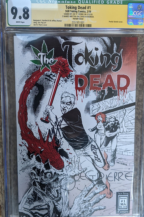 3 signature graded CGC 9.8 Variant Cover by Joe St.Pierre