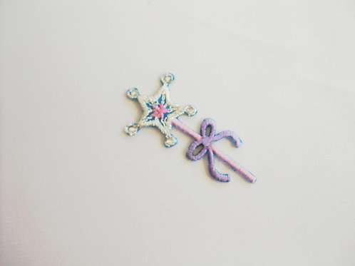 #58 Wand - Pink Handle Purple Bow