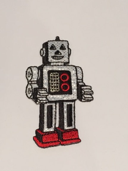 #108 Robot - Silver and Red
