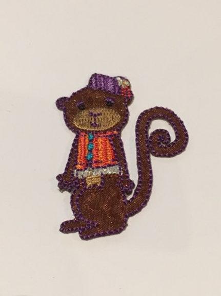 #105 Monkey Purple Hat
