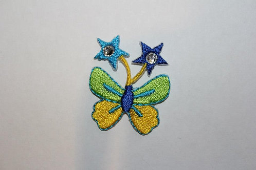 #11 Butterfly with blue stars