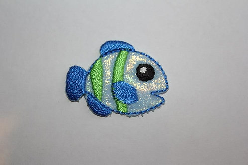 #22 Fish - Blue with green stripes