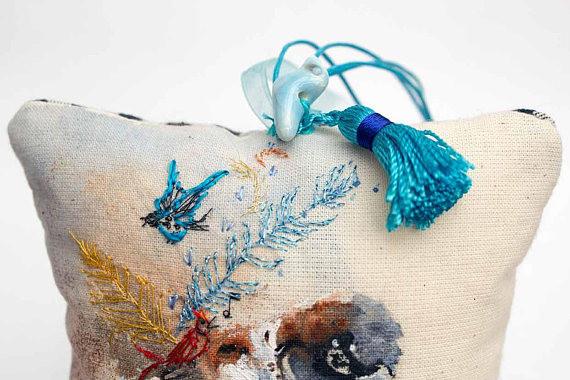 Close up china bird and tassel detail