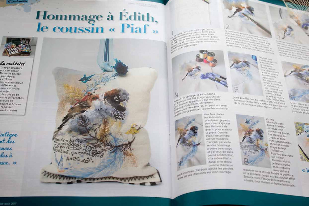 Hommage a Edith. Double page spread Plaisirs de Peindre.
