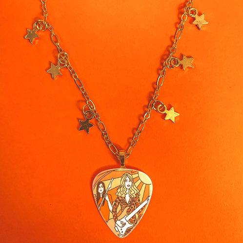 TRIS Celestial Guitar Pick Necklace