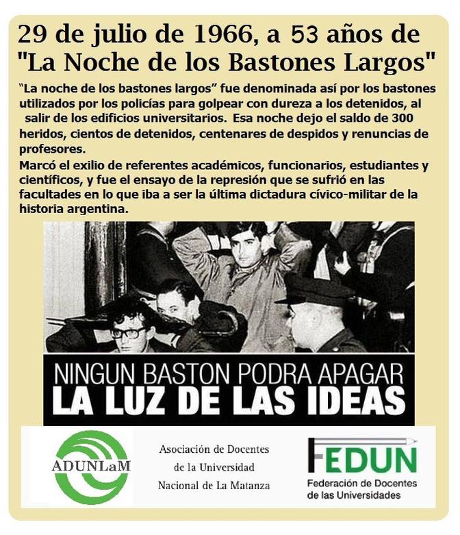 """53 años de """"La Noche de los Bastones Largos"""""""