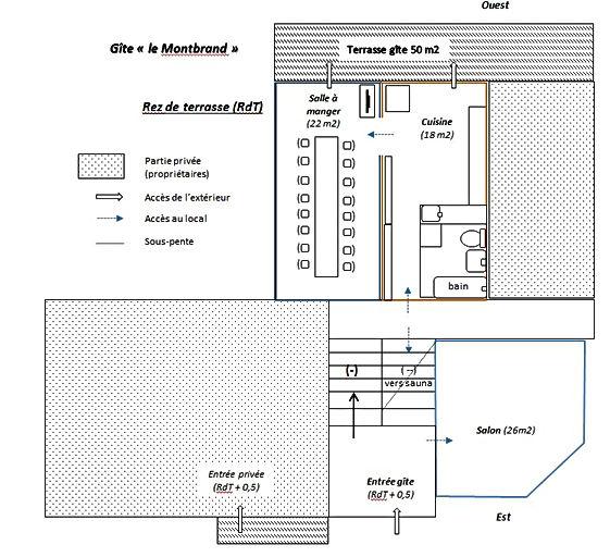 Gite Vercors Autrans - le Montbrand - Plan RdT