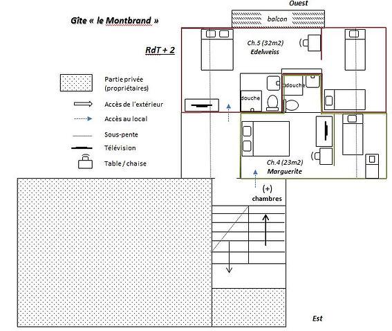 Gite Vercors Autrans - le Montbrand - RdT +2
