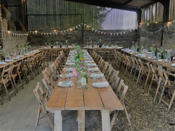 Barn with tables