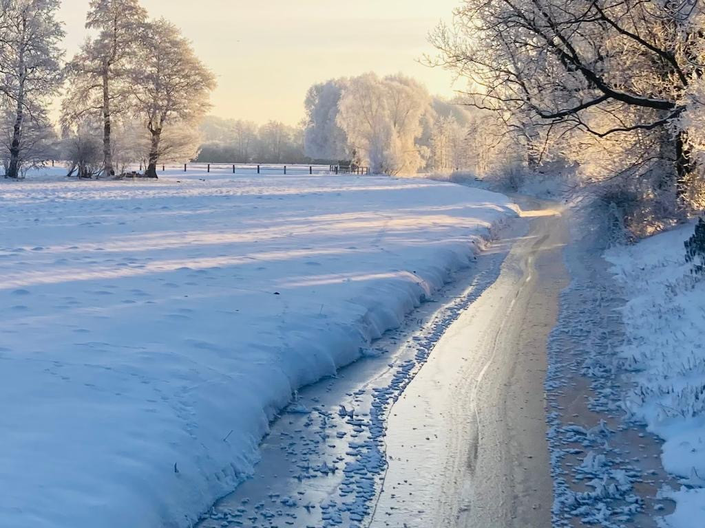 Die Wipperau im Winter