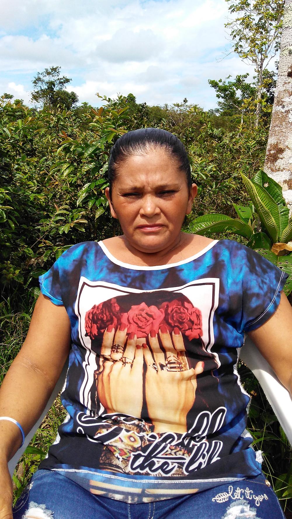 Gloria Piedad Burbano, campesina de Putumayo, reclama por la desaparición de su esposo en 2012 (Foto: Diego M. Vidal)