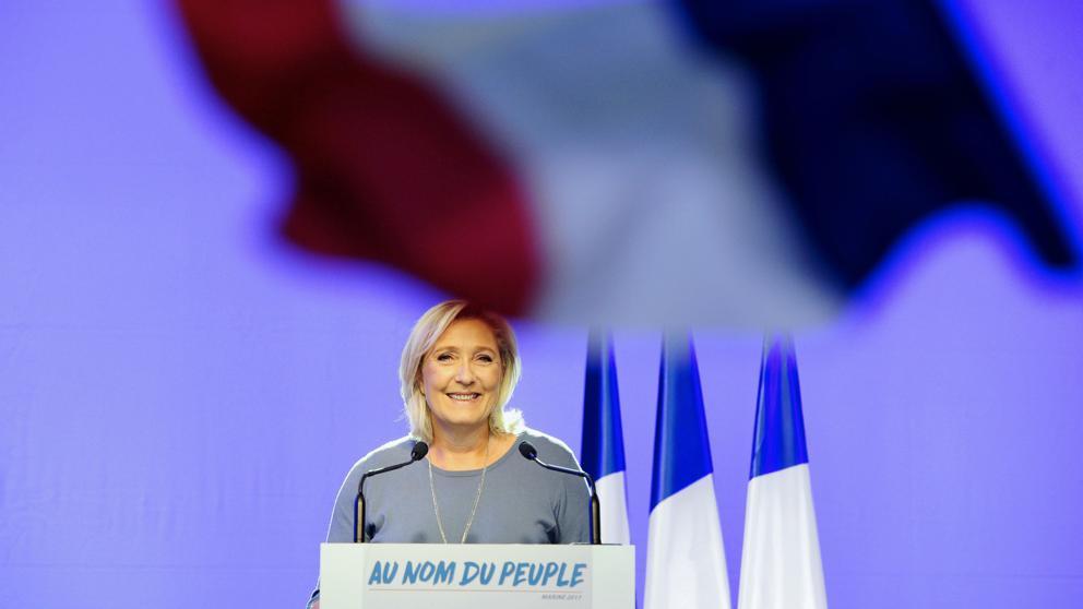 Marine Le Pen, en un acto de campaña de septiembre pasado (Franck Pennant / AFP)