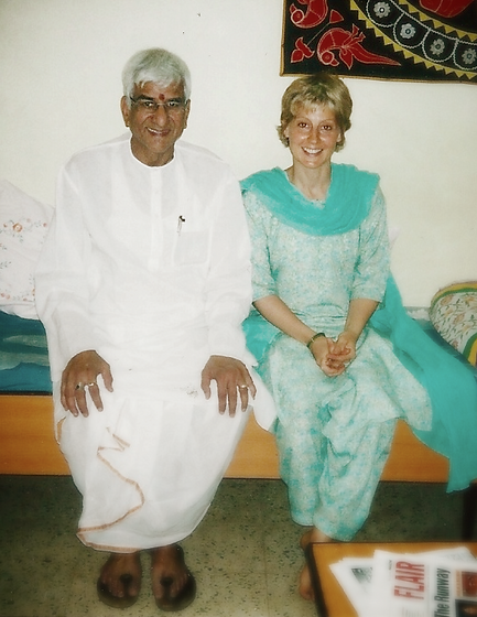 Om Prakash Tiwari and Rebecca Polack at Kaivalyadhama 2001