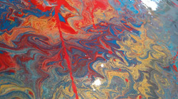Acrilyque Pouring 50x50