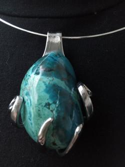 Collier Chrysocolle Pérou
