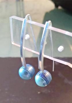 Perles eau douce bleues