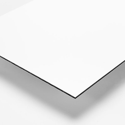 "Gloss White/White 3mm 48""x96"" Aluminum Composite / 0.008"""