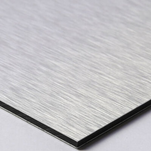 "Brushed 3mm 48""x96"" Aluminum Composite / 0.008"""
