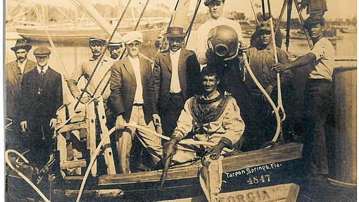 Greek divers at Tarpon Springs_Matheson