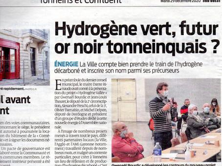 Présentation d'Hydrogène Vallée au conseil municipal de la ville de Tonneins   18 déc